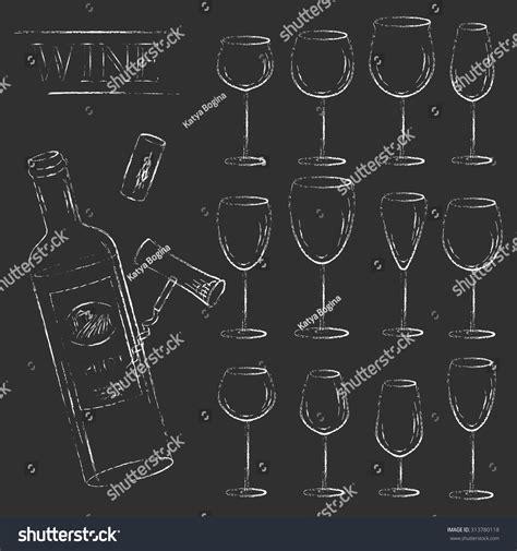 glass design elements 25 vector vector design elements wine glass cork corkscrew and