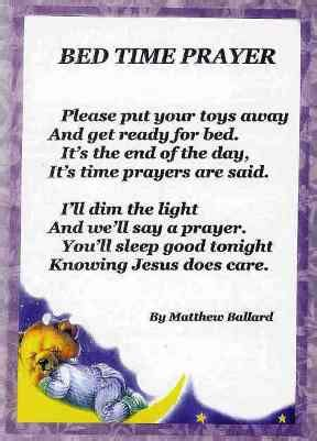 bed time prayer bedtime prayer rhymes and poems
