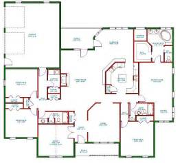 House Floor Plan Designs by Traditional Ranch House Plan Single Level One Story Ranch