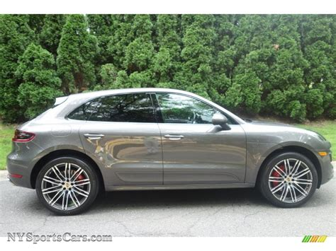 porsche macan agate grey 2016 porsche macan turbo in agate grey metallic photo 7