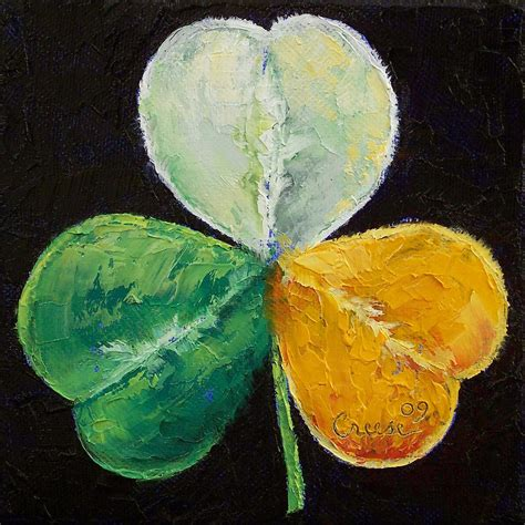 Home Decor Apps For Ipad Irish Shamrock Painting By Michael Creese