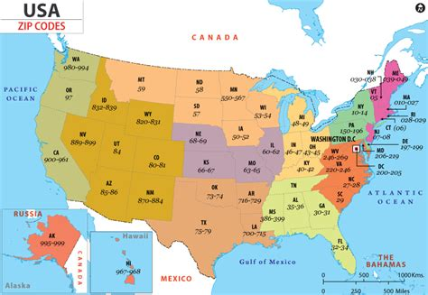 map of the united states zip codes подробная карта сша на русском языке штаты и города сша