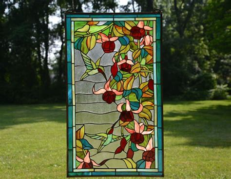 Types Of Room Dividers sold out large tiffany style stained glass window panel