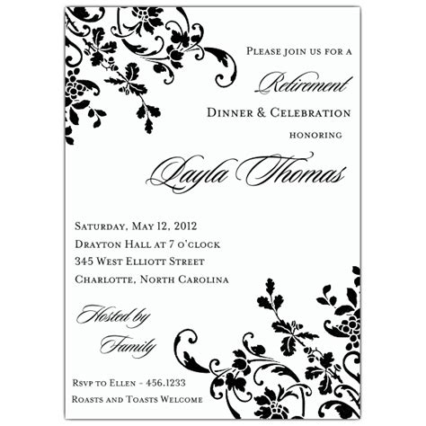 free templates for retirement invitations floral stripe retirement invitations paperstyle