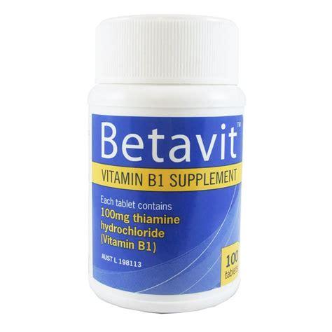 Thiamine For Detox by Betavit Vitamin B1 Supplement 100 Tablets