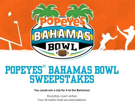 Popeyes Gift Cards - popeyes bahamas bowl sweepstakes sweepstakes fanatics
