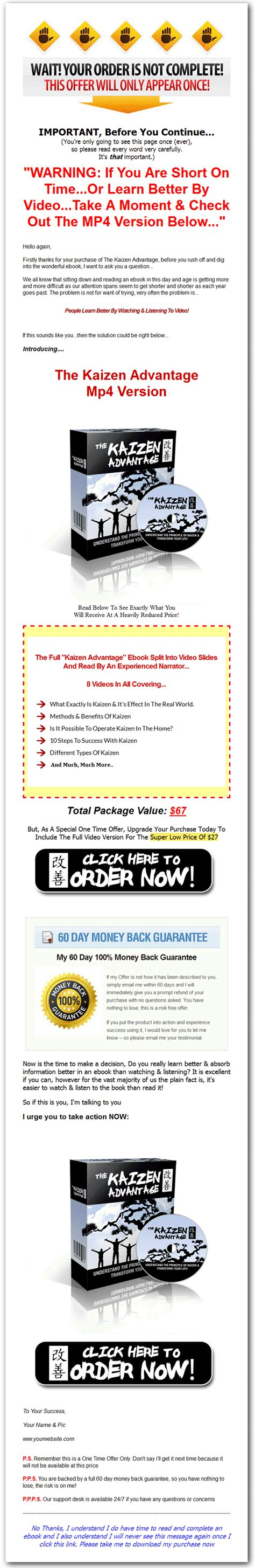 epub format advantages kaizen advantage ebook and videos with master resale rights