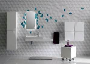 Bathroom Wall Decorating Ideas Futuristic Bathroom Wall Tile Decor Iroonie