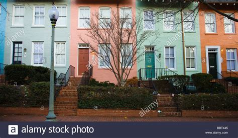 we buy houses washington dc colorful row houses in georgetown washington dc usa stock photo royalty free image