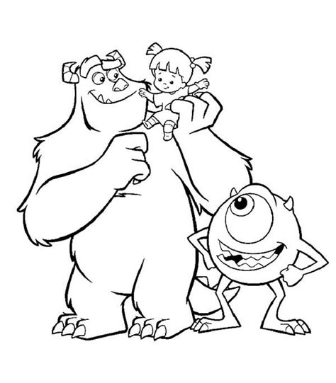 disney coloring pages monsters inc 72 monsters inc coloring pages disney mike wazowski