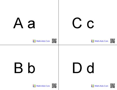 free printable alphabet flash card template 9 best images of simple printable alphabet flash cards