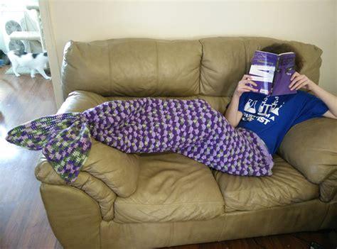 free pattern mermaid tail blanket mermaid lapghan adult size lilac mad hooker crochet