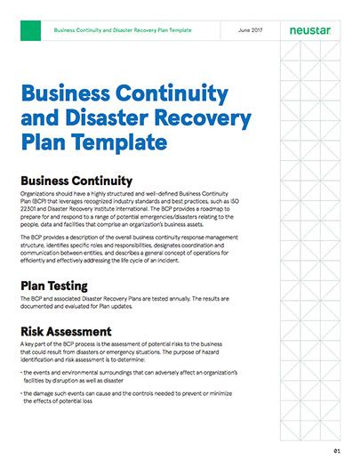 business continuity and disaster recovery plan template generous bcp test plan template photos resume ideas