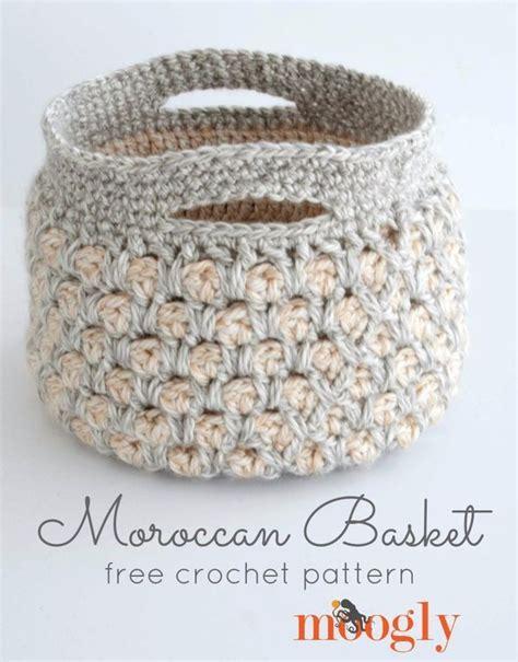 pattern around the house moroccan basket free crochet pattern on mooglyblog com