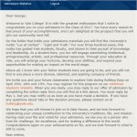 Acceptance Letter From Yale pianist george li of on his admissions to harvard yale and other top schools