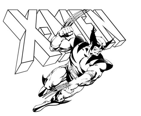 wolverine coloring pages online for free kids printable wolverine coloring page superheroes