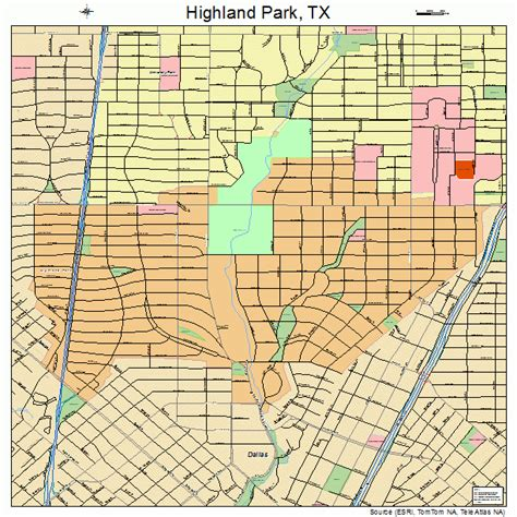 map of highland park texas highland park texas map 4833824