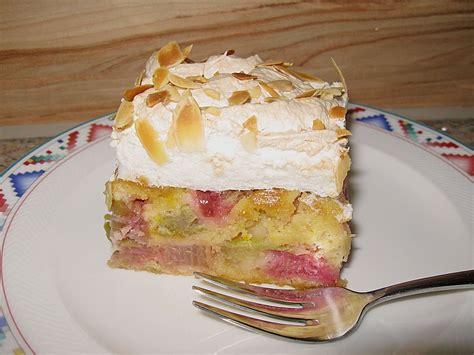 rhabarber baiser kuchen rhabarber baiser kuchen rezept mit bild