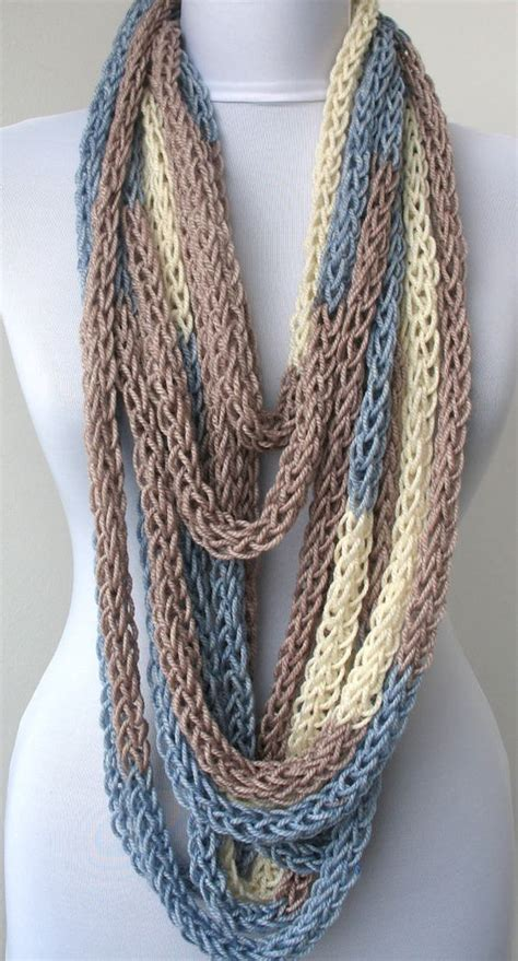 circle loom knitting scarf scarf necklace loop scarf infinity scarf neck warmer and