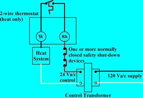honeywell  voltage thermostat wiring diagram wiring
