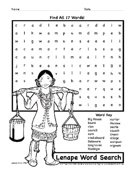 indian themed coloring pages native american activity sheets for kids lenape delaware