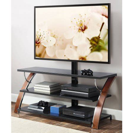 Brown Tv Stand With Mount by Whalen Brown Cherry 3 In 1 Flat Panel Tv Stand For Tvs Up