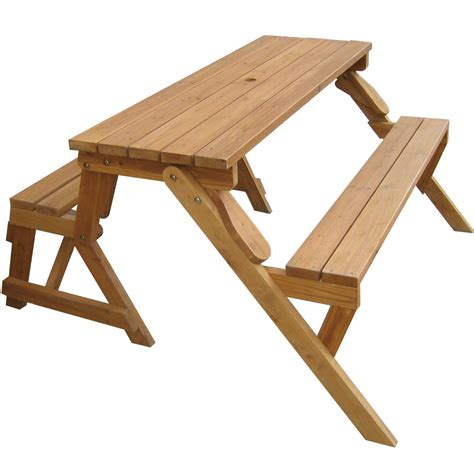 Patio Table Bench Interchangeable Picnic Table And Garden Bench In Outdoor