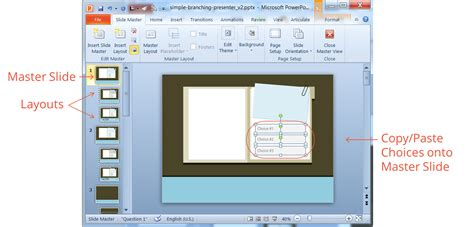 slide layout master definition how to create a simple branching scenario in articulate
