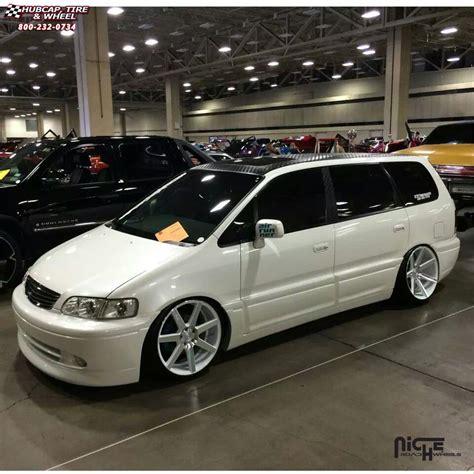 custom honda odyssey honda odyssey niche verona m151 wheels gloss white
