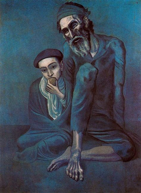 picasso paintings during the blue period pablo picasso blue period 1901 1904