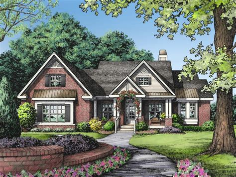 One Story Brick Ranch House Plans One Level Ranch Style