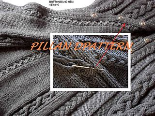 swing pille ravelry cabled sweater coat pattern pattern by pille