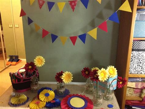 banner and decor mima s 90th colombia theme