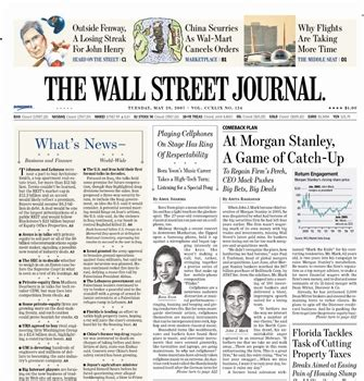 wall street journal business section wsj looking at la chicago markets too talking biz news