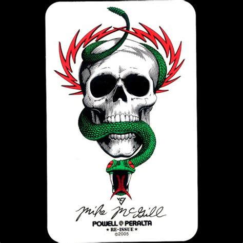 Sticker Powell Peralta Mike Mc Gill powell peralta mike mcgill skull snake sticker single