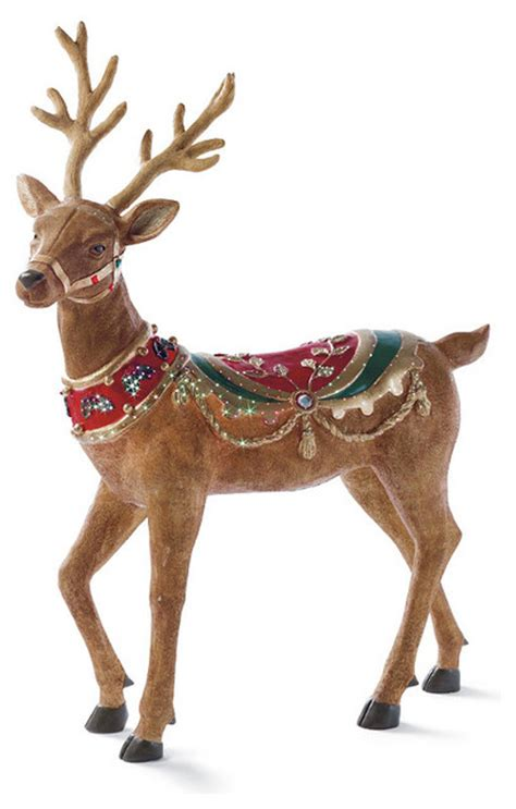 raindeer decorations fiber optic up reindeer frontgate outdoor