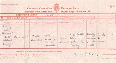 full birth certificate kingston britton family history full research bob anderson s
