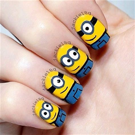 tutorial nail art minions minions nails 2013 2014 despicable me 2 nail art