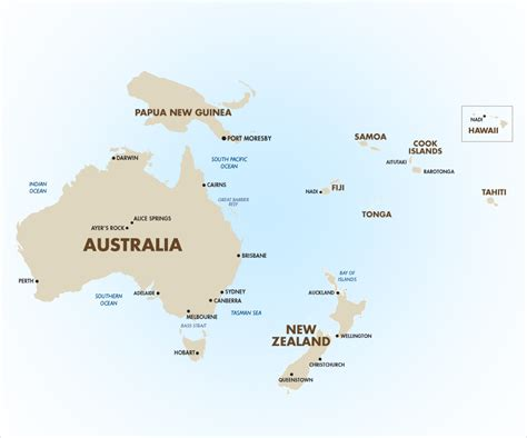 australia pacific map australia and islands map my