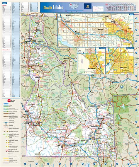 printable idaho road map large detailed roads and highways map of idaho state with