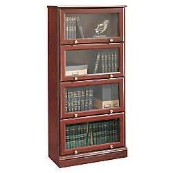 Sauder Barrister Bookcase Sauder Roanoke Barrister Bookcase 60 18 H X 28 34 W X 13 D