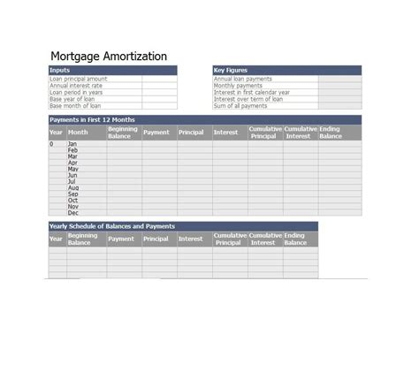 excel mortgage template excel loan amortization template variable loan