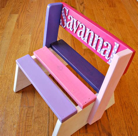 Personalized Wooden Step Stool For by Personalized Step Stool For Wooden Stool For By