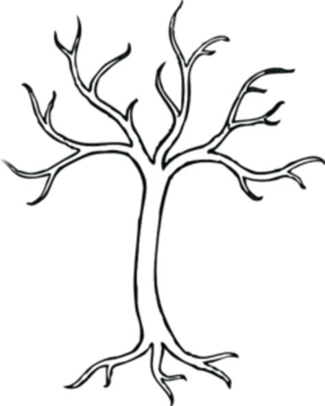 coloring bare tree md free images at clker com vector