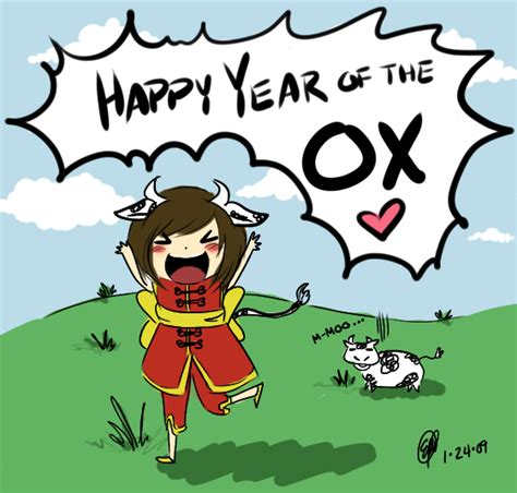 new year ox year new year ox by maeoneechan on deviantart