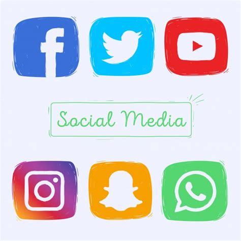 imagenes de redes sociales individuales iconos de redes sociales dibujados a mano descargar