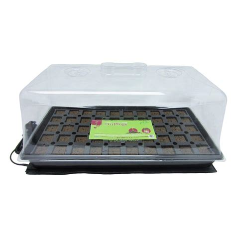 Viagrow Seedling Heat Mat by Viagrow 50 Site Pro Plugs With Tray Insert Dome And