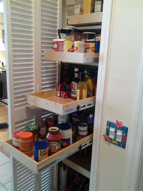 Narrow Pantry Shelving by Pullout Shelves Photo Gallery Updated Designs