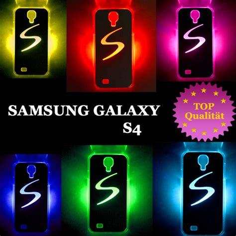 Led Samsung Galaxy S4 Farbwechsel H 252 Lle Led Leuchtcover Samsung Galaxy S4 I9500 Flash Cover H 252 Lle Ebay