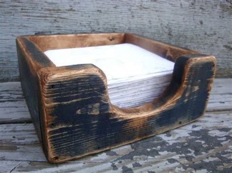stock napkin holder primitive rustic distressed painted